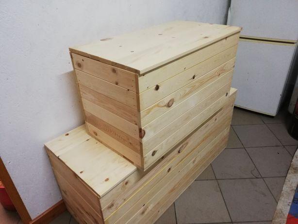 Drewniana skrzynia kufer