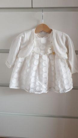 Sukienka Mayoral , rozmiar 70, 4-6 mcy, chrzciny