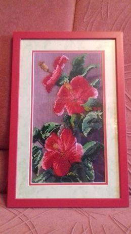 Картина из бисера Лилии (новая)
