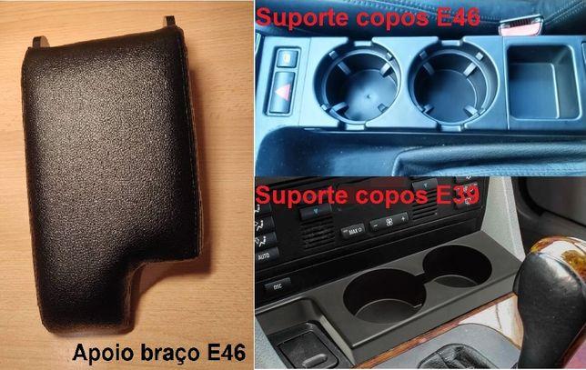 Tampa apoio Braço   Suporte copos cortina consola BMW E46   BMW E39