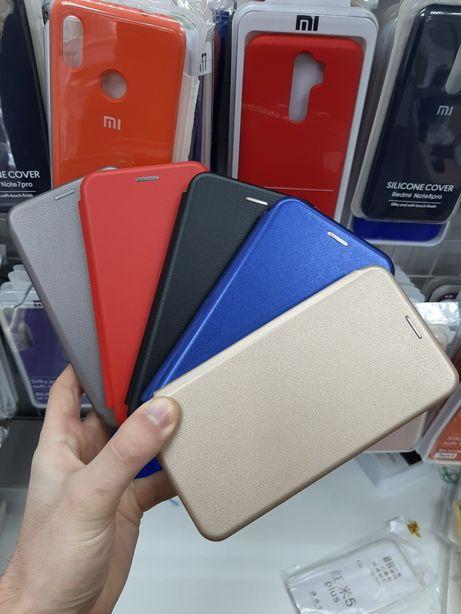 Кожаный Чехол-Книга Xiaomi redmi 6 6a 7a 7 note 7 8 pro a1 2 3 mi9se 8