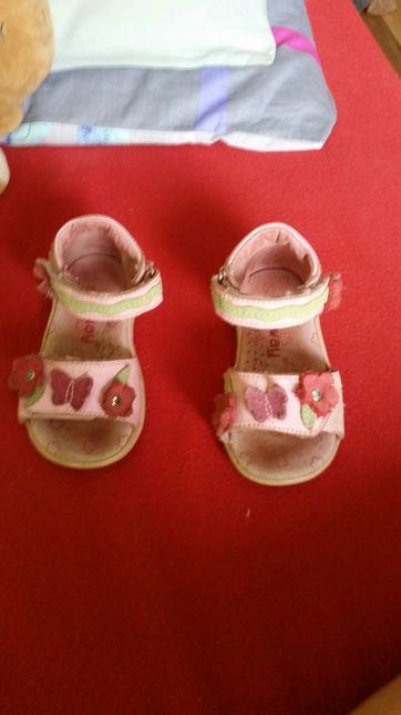 Sandałki skórzane sunway 22 14 cm