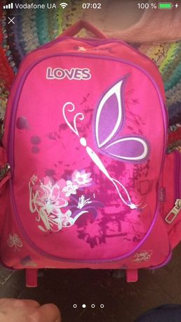 Рюкзак школьный дорожный чемодан на колёсах