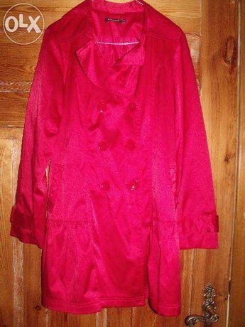 damska kurtka, płaszcz czerwony, wiosenny, jesienny
