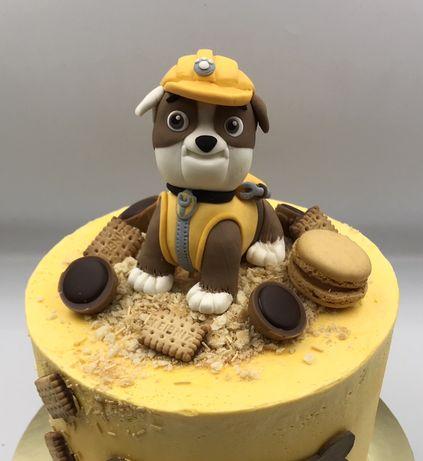Figurka Rubble z masy cukrowej Psi Patrol
