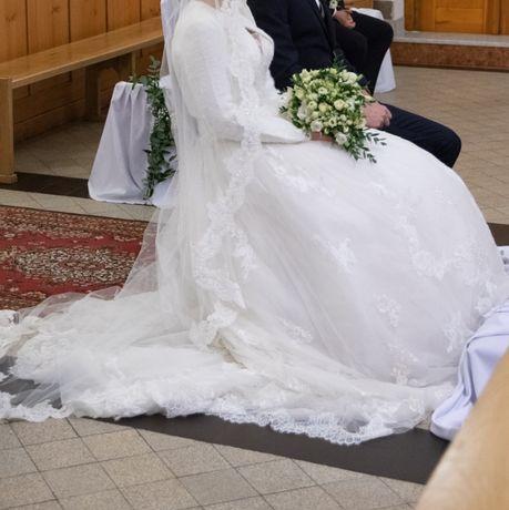 Suknia ślubna Enzoani 'JADIS' kość słoniowa, rozmiar 36/38