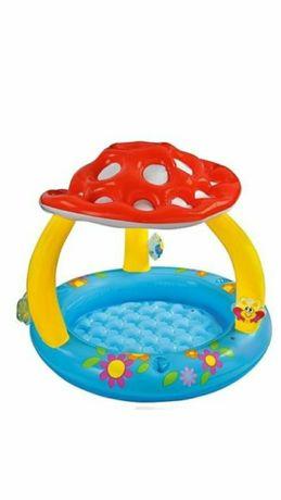 надувной бассейн грибок интекс+круг+жилет+Нарукавники