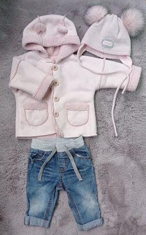Демисезонная куртка пальто на девочку с ушками