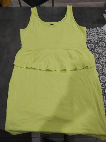 Sukienka Letnia New Look. Żółto zielona. Seledyn