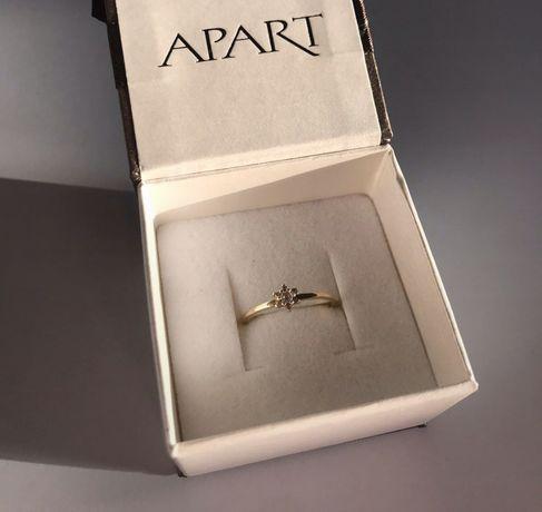 Piękny delikatny pierścionek Apart złoto 333