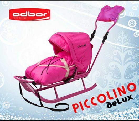 Санки детские Adbor Piccolino deLux (полный комплект с колёсами)