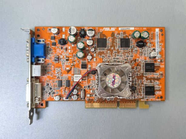Видеокарта AGP Asus ATI 9600 PRO 128MB VGA, S-Video, DVI-I, 128bit