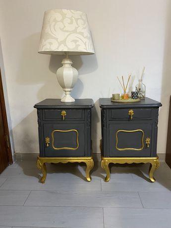 Mesas de cabeceira ou apoio. Restauradas e pintadas com chalkpaint.