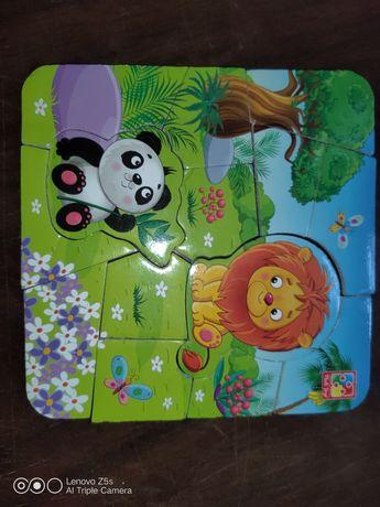 Магнитные пазлы и кубики  для малышей