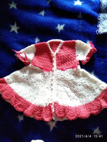 Крестильное платье вязаное крючком
