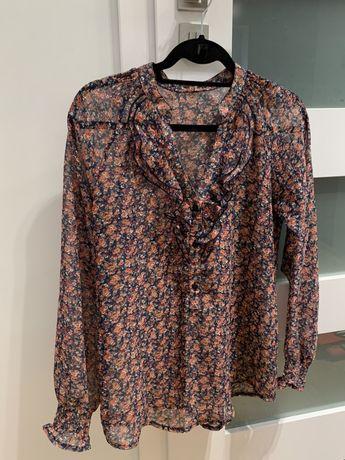 Zara stylowa bluzka damska w kwiatki M