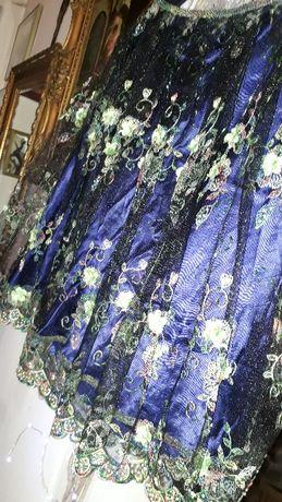 HEXCELINE spódnica tiul/jedwab, hafty.