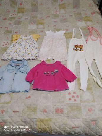 Одежда для девочки 6-12 месяца
