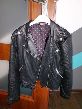 PEPPERTS jak H&M ramoneska kurtka skórzana skóra czarna r. 152