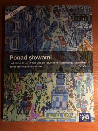 Podręcznik Ponad Słowami, język polski, klasa 3, liceum, technikum
