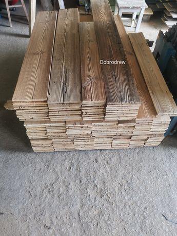 Stare drewno deski panele boazeria wystrój wnętrza ściana meble stoly