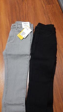 Spodnie dżinsy skinny git 116 h&m NOWE