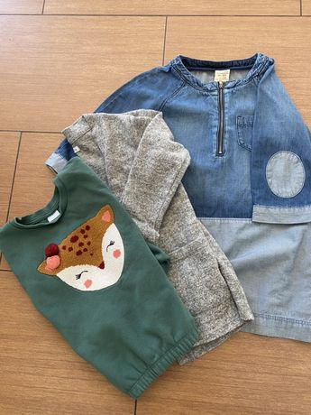 Paka zestaw ciuchów dla dziewczynki 116/122 Zara,Reserved,H&M