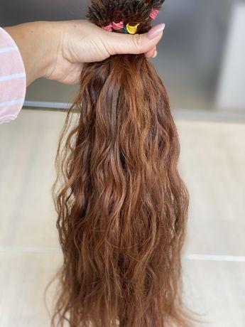 Натуральные волосы для наращивания, срез с одной головы, 131 грамм