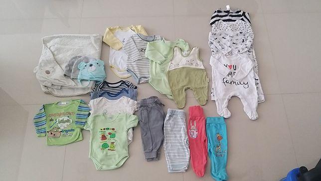 Ubranka dla niemowlaka paka rozm. 56-68