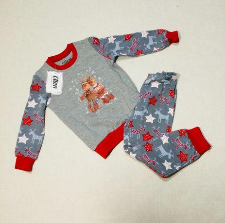 Детская пижама утепленная с серии family look. ellen