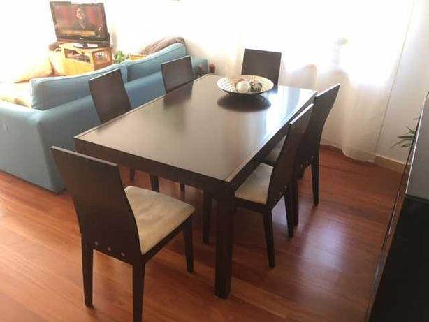 Mesa jantar  + 6 cadeiras Conforama - 250eur