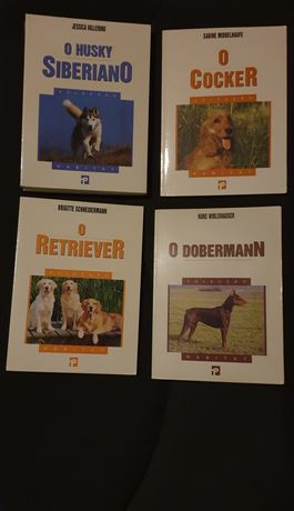 Livro de caes - Cocker / Retriever / Husky Siberiano / Doberman