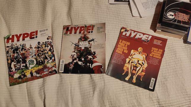 3 Revistas Hype! retro e Revista de Artes Marciais - Bushido