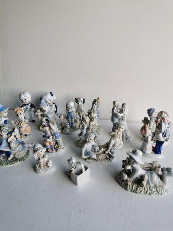 Stare figurki porcelanowe 17szt
