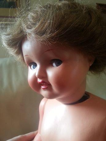 Ходячая кукла из папье-маше с нат. волосами и флиртующими глазами 64 с
