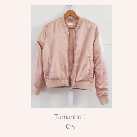 Bomber Jacket Baby Pink/ Perola