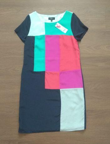 Платье Warehouse из натурального шелка