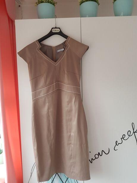 Sukienka de facto carmel 40L 42 xl jak nowa komunia mohito