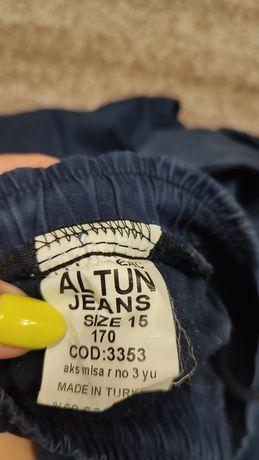 Штаны, тёмно-синий цвет. На парня ростом 1,65