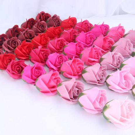 Мильні троянди оптом, квіти з мила для флористів, мыльные розы оптом