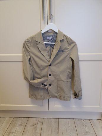 Котоновый пиджак на мальчика бежевого цвета