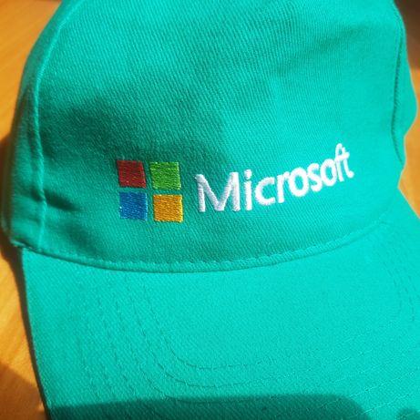 Nowa czapka z daszkiem Microsoft zielona MS Windows Office uniwersalna