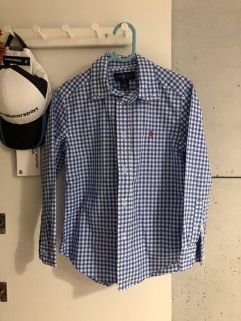 Koszula Ralph Lauren w kratke na 6 lat r. 122-128
