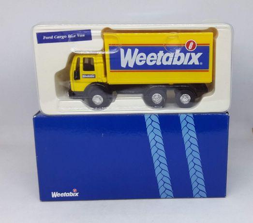 "Ford Cargo Truck Box Van ""Weetabix"" - Corgi 1/50 (Tekno, WSI, Siku)"