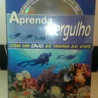 livro com dvd sobre mergulho