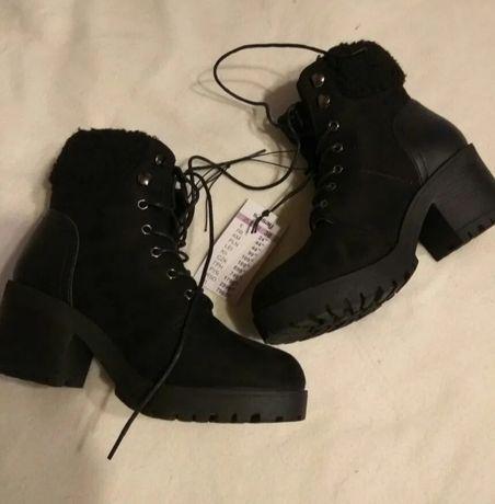 Nowe z metkami buty botki futerko rozmiar 38