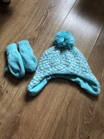 Шапочка з рукавичками на 2-3р
