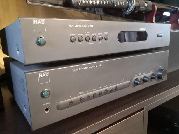 Zestaw Wzmacniacz stereo NAD C350 + Tuner NAD C420