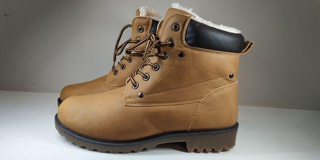 """Чоботи/сапоги/ботинки під """"Timberland"""",  екошкіра, теплі, 38 і 39 р"""
