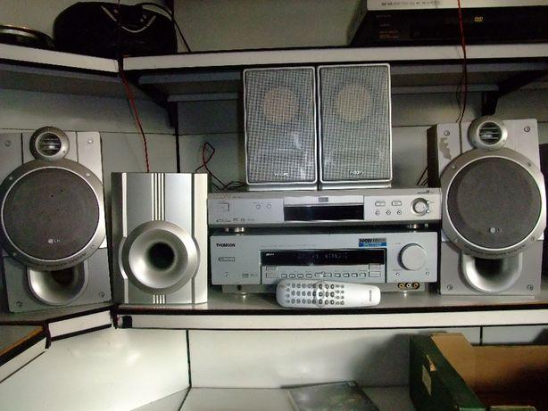 Amplituner Thomson 5+1 300W, DVD z pilotem/sbradioLafayettel